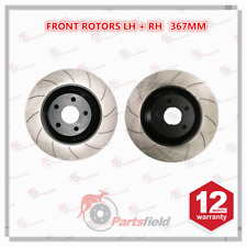 Pair x Slotted Front Disc Rotor fits HSV Clubsport Grange Maloo Senator VF 367mm