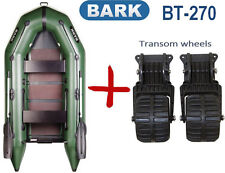 8,8ft Bark BT-270 + Transom Wheels Inflatable powerboat fishing boat