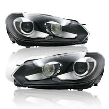 For 2010-2012 VW Golf MK6 GTI Headlights with Bi-xenon Projector and turn signal