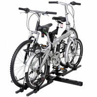 2 Bike Bicycle Carrier Hitch Receiver Heavy Duty 2'' Mount Rack Truck SUV