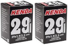 """2x Kenda 29"""" MTB Tube 29x1.9/2.3 48mm F/V Valve 29er 247grams Tubes TUBE966L"""