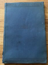 Rare 1920 Carl Zeiss Astronomical Instruments Catalog Telescopes, Observatory !