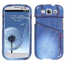 For Samsung Galaxy S3 Blue Jeans Phone Case Cover with Studs
