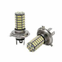 Coppia H4 3528 SMD Xenon 120 LED Lampadine Faro Bulbi Auto Luci Bianco 12V 6000K
