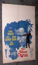THE JOKER IS WILD Orig 1957 Movie Poster FRANK SINATRA/MITZI GAYNOR/JEANNE CRAIN