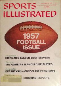 SPORTS ILLUSTRATED Magazine Volume 7, Issue #13 - 9/23/1957 College Football VG