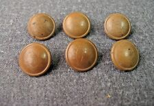 6 ANTIQUE EARLY 1900 DECORATED WITH A SHIELD TAGUA NUT MILITARY BUTTONS c