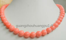 """Jewelry Necklace pink coral 8mm round beads 18 """"AAA"""