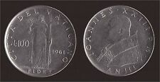 VATICANO 100 LIRE 1961 - GIOVANNI XXIII - Q.FDC/aUNC QUASI FIOR DI CONIO