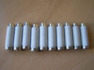 10x Schmelzsicherung NDz (DI) 10A 500V Porzellan Sicherung E16 lang, unbenutzt