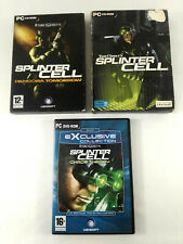Lot de 3 jeux PC VF  Splinter Cell Chaos Theory Pandora Tomorrow  Envoi suivi