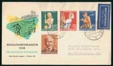 Mayfairstamps Germany 1958 Wohlfahrtsmarken Semi-Postals Combo first Day Cover w