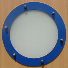 PORTHOLE FOR DOORS STAINLESS STEEL BLUE (RAL 5015) phi 230 mm flat
