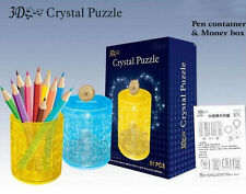 Pen Container Money box 3D Crystal Blocks Puzzle Jigsaw 51pcs Intelligence Toy
