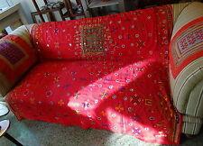 Hermosa Vintage Bordado De Seda Algodón Shawl textil sekhawati India Rajasthan
