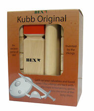 KUBB  Wikingerspiel Gummibaumholz XXL High Quality Original Turnierversion