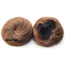 Straight Drawstring Clip In Hair Bun Piece Updo Cover Hair Extensions Chignon Q3