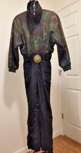Women's 6 Vintage Fera Ski Suit EUC Metallic Tie Dye