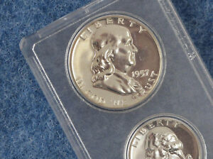 1957 United States Silver Gem Proof Set in Whitman Lucite E0572