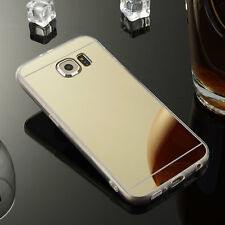 Ultra-Slim Mirror Silicone TPU Case Skin Cover For Samsung Galaxy J7J700-Gold