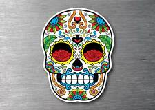 Sugar skull 55 day of the dead sticker 7 year water & fade proof vinyl car l pad