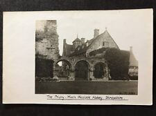 RP Vintage Postcard - Shropshire #B2 - The Priory Much Wenlock Abbey 1911