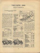 Triumph 1800 1946-47 models Motor Trader Service Data No.136 1947