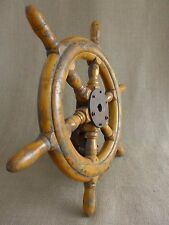 Antique Vintage Wooden Ships Wheel Boat Yacht Sailing Original Home Art Deco