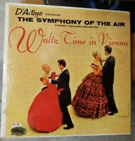 D'Artega conducts SYMPHONY OF THE AIR *WOW* Waltz Time In Vienna DLP-108 SHRINK