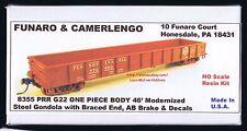 LMH Funaro F&C 8355  PENNSYLVANIA Railroad  PRR G22 46' GONDOLA Braced End 1-PC