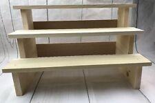 Unfinished Wood Soap Product Display Shelf craft show display, vendor display