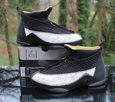 Nike Air Jordan XV 15 Retro Laser Men's Size 13 Black Gold White 317274-071
