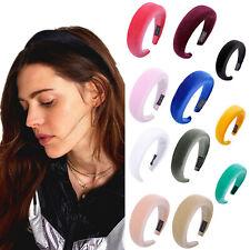 Fashion Women's Padded Velvet Headband Hairband Soft Hair Hoop Band Accessories