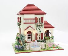 Fountain Villa Wooden dolls house DIY Handcraft Miniature Project & TOOLS