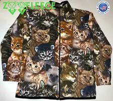 ZooFleece Cat Munchkin Siamese British Shorthair Cute Cats Kittens Jacket S-3X
