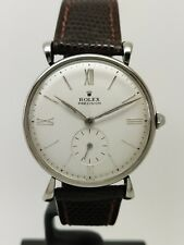 vintage ROLEX PRECISION art deco ref. 4205 stainless steel watch 1946 fancy lugs