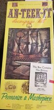 Vintage 1973 Historical Cerny Ship Decoupage kit Bersted'S #3489 Ship & Book