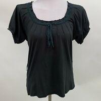 Theory Bergdorf Goodman Womens Top Small Charcoal Gray