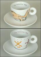 Caffè ILLY COLLECTION 1992 Arti e Mestieri Arts and Craft 2 Tazzine Cups Coffee
