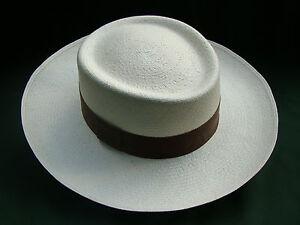 "Genuine Panama Hat from Montecristi ""Gambler"" fino,  Men Woman Straw Fedora Sun"