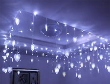 8M*0.75M LED Heart Indoor Party Xmas String Fairy Ceiling Light 9 colors