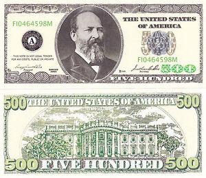 100 - $500 Casino Style Funny Money Novelty Money Bills Lot