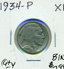 1934-P US BUFFALO NICKEL IN EXTRA-FINE ~ NICE ~