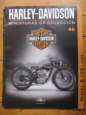 FASCICULE 49  MOTO COLECCION HARLEY DAVIDSON MODEL S 125 1948 DKW
