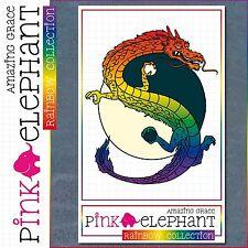 Aufkleber - Yin Yang 02r - Drache - Regenbogen -schwul - lesbisch -gay - rainbow