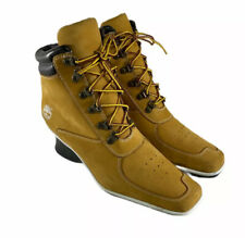 TIMBERLAND WOMENS PREMIUM ANKLE BOOTS (19345) WEDGE WHEAT SIZE 8M