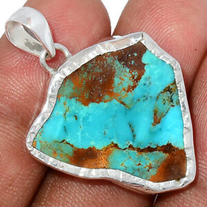 Natural Mexican Turquoise 925 Sterling Silver Pendant Jewelry BP89281