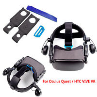 For Oculus Quest / HTC VIVE VR Headband Head Strap Connector Adapter Adjustable