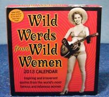 2013 CALENDAR  - Wild Words  From Wild Women