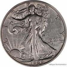 1929-S 50C Walking Liberty Half Dollar (RAW) AU - About Uncirculated